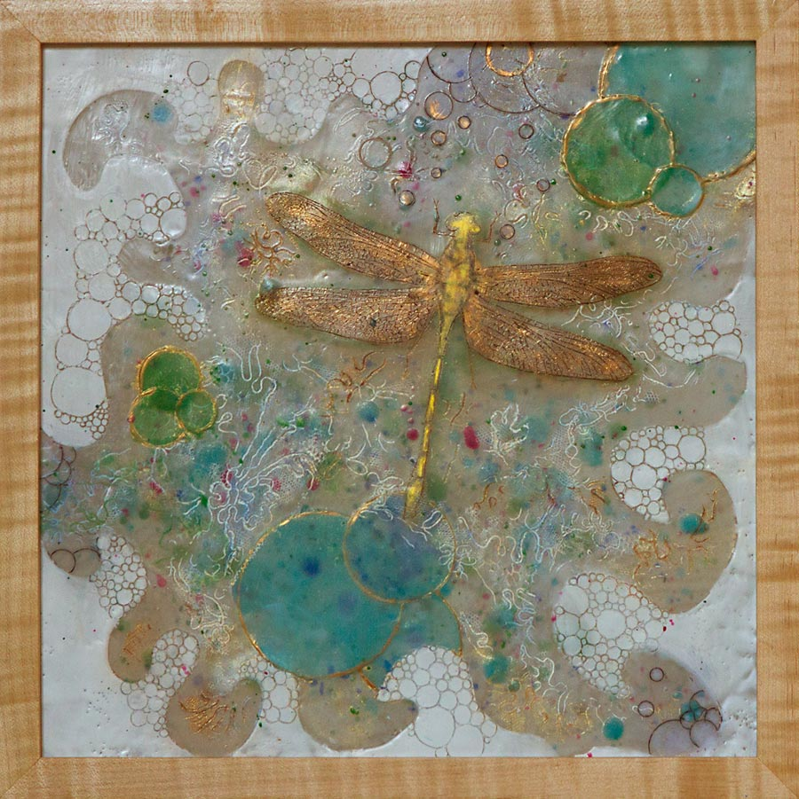Dragonfly, Encaustic, Edie Morton